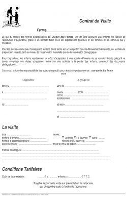 Contrat de visite
